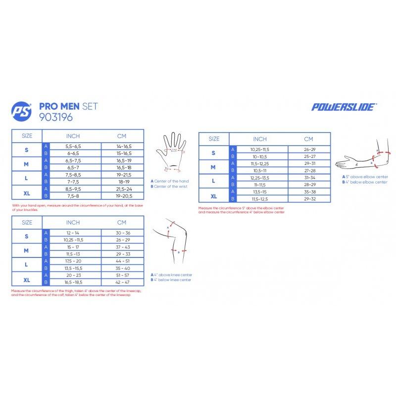 Powerslide - Pro Black - apsaugų komplektas - 5