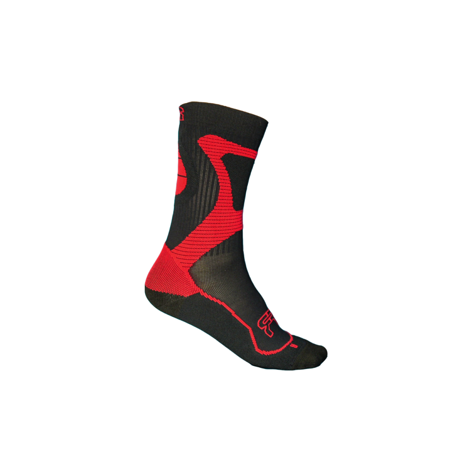 FR Skates - Nano Socks Red - juodos-raudonos kojinės riedučiams