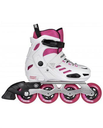 Powerslide Khaan Junior SQD Pink - vaikiški freeskate riedučiai